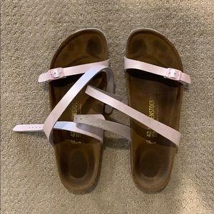 Birkenstock pink wrap sandals
